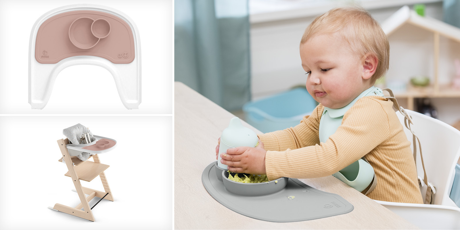 ezpz™ by Stokke® silicone mat for Stokke™ Tray Grey, , emotional1
