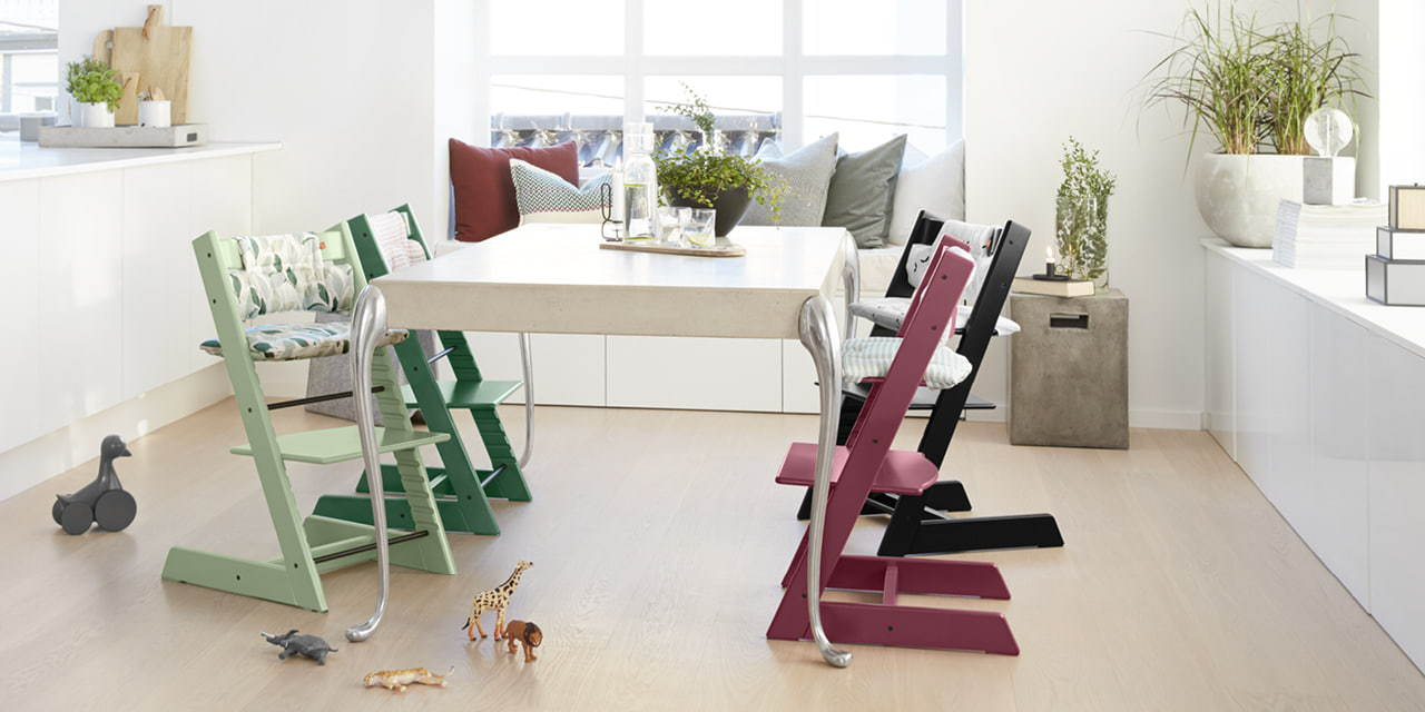 Tripp Trapp� colour collection around the table.