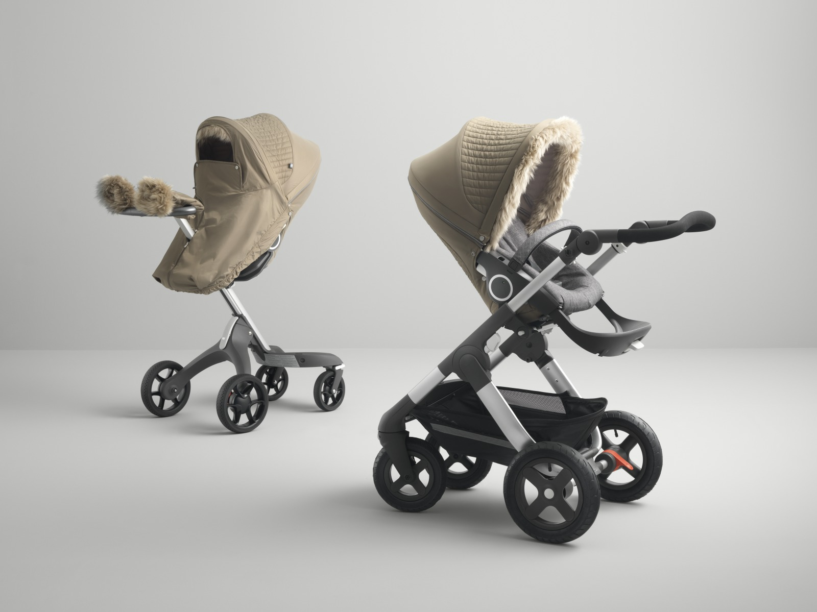 Stokke® Stroller Winter Kit, Bronze Brown. Stokke® Xplory® & Stokke® Trailz™ with seat.