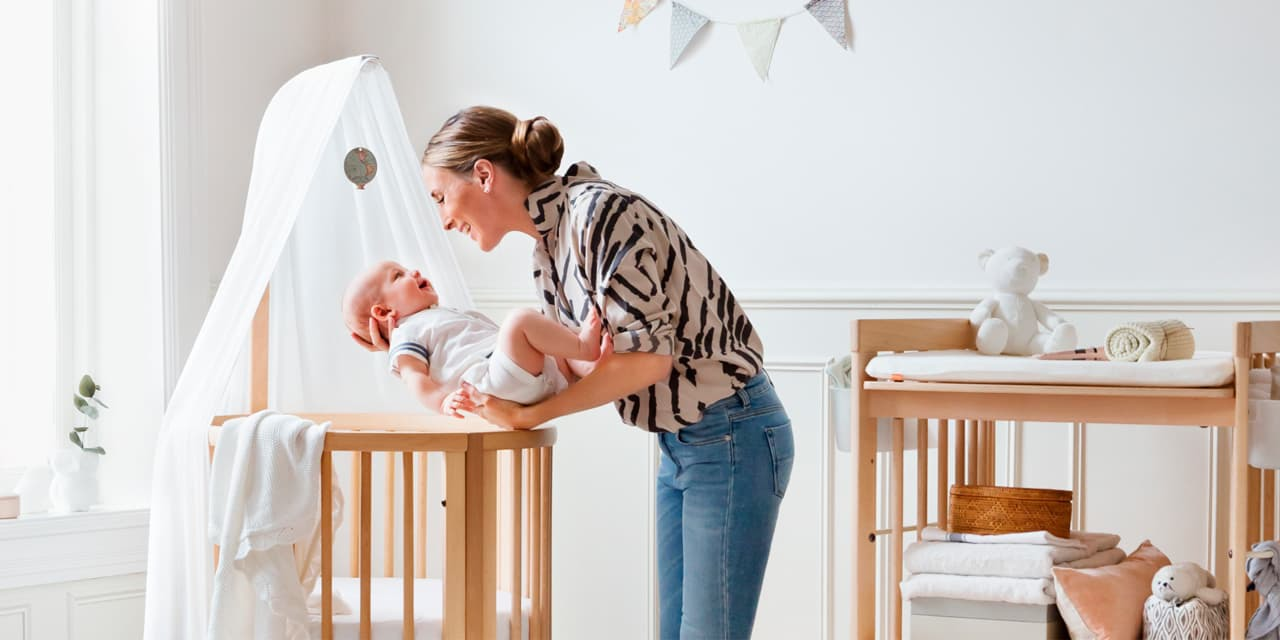 Stokke® Sleepi™ Mini and Stokke® Care™ Changing Table.