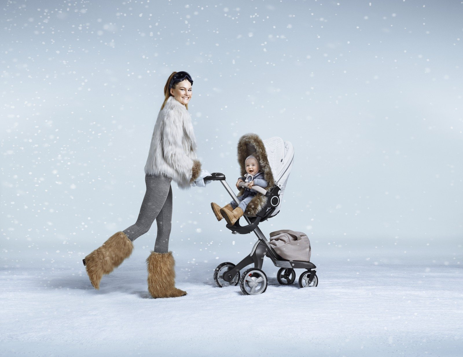 Stokke® Xplor® with Pearl White Winter Kit.