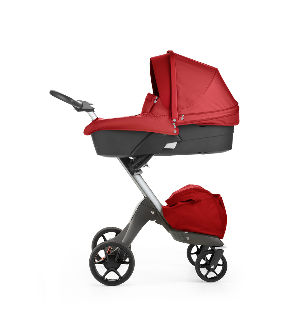 Stokke® Xplory® with Carry Cot, Red. New wheels 2016.