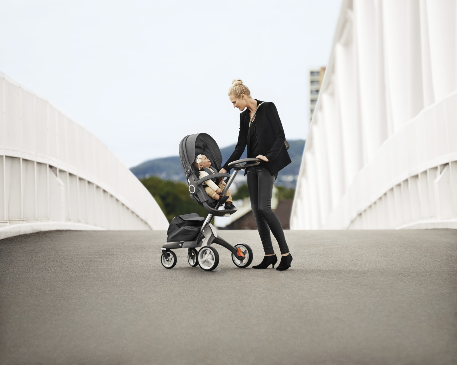 Stokke® Xplory® with Seat, Black Melange.