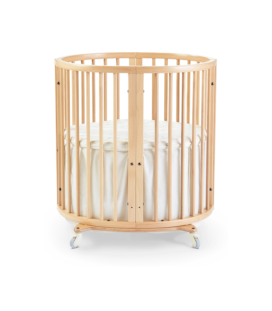 Stokke® Sleepi™ Mini, Natural. Bed Skirt Natural. US only.