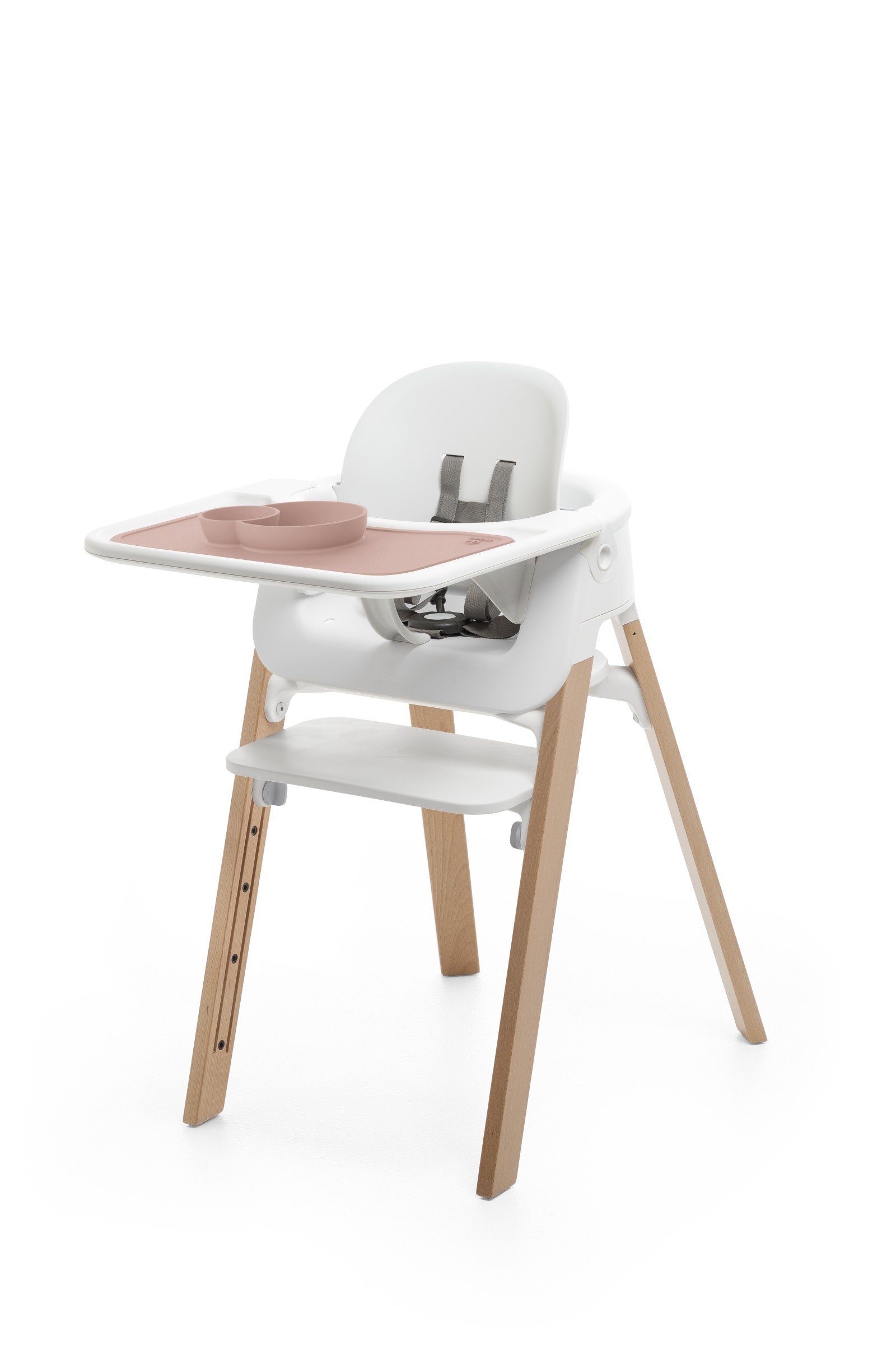 Accessories. Tray and Baby Set. Mounted on Stokke Steps highchair.