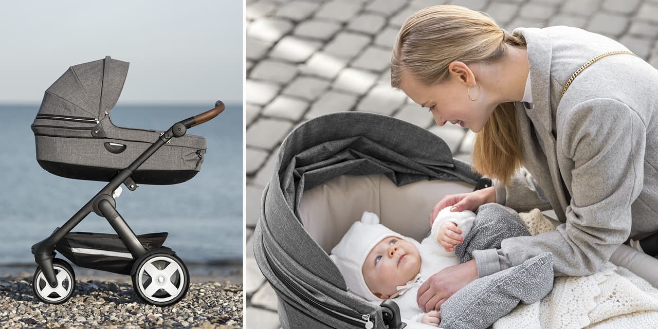 Stokke® Trailz™ Terrain Black with Brown Handle Black Melange, , emotional1