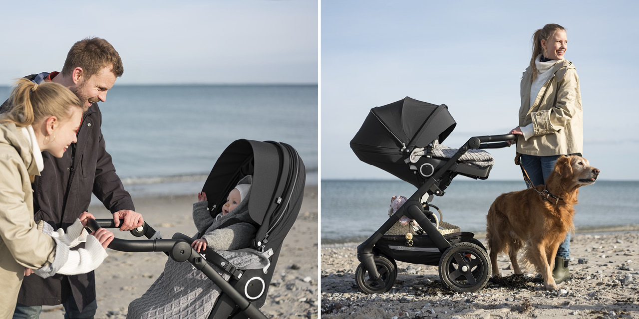 Stokke® Trailz™ Terrain Black with Brown Handle Grey Melange, , emotional1