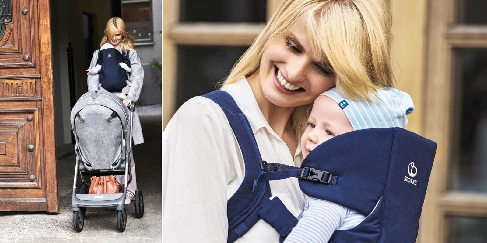 Stokke® MyCarrier™ Front & Back Carrier Deep Blue, , emotional1