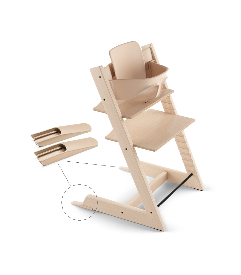 Tripp Trapp® Chair Natural, Beech, with Baby Set.