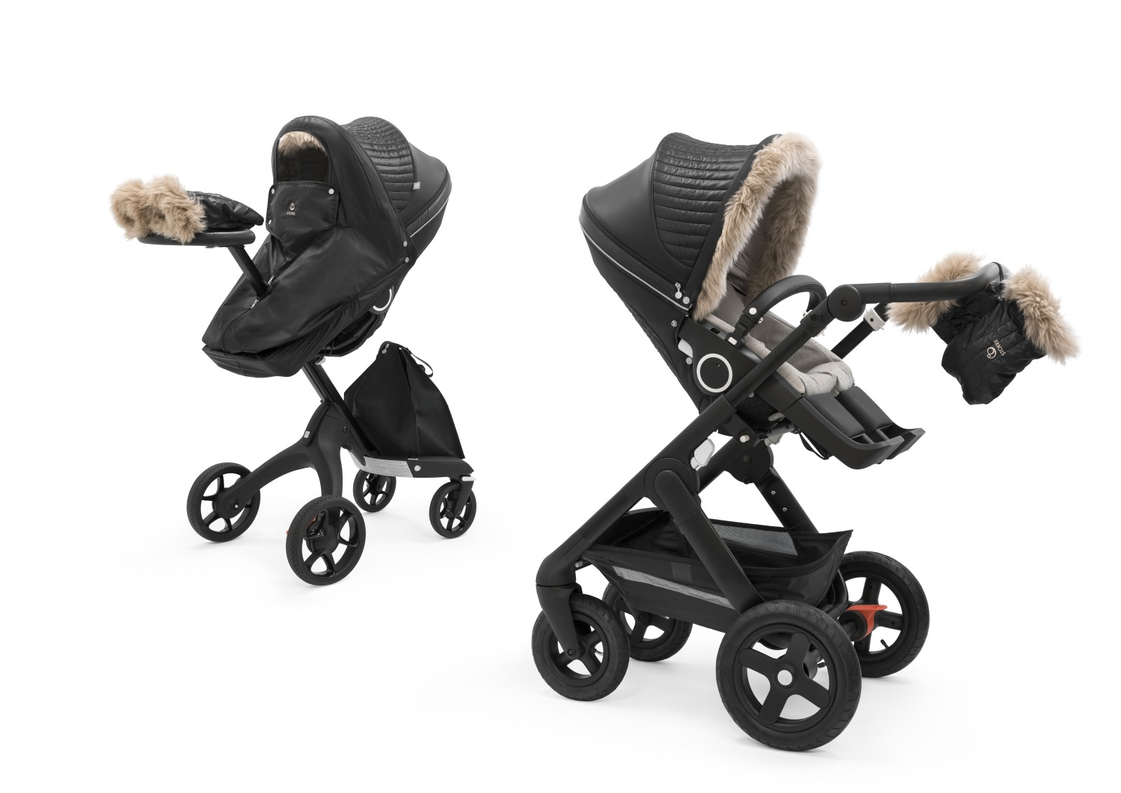 Stokke® Stroller Winter Kit, Onyx Black. Stokke® Xplory® and Stokke® Trailz™.