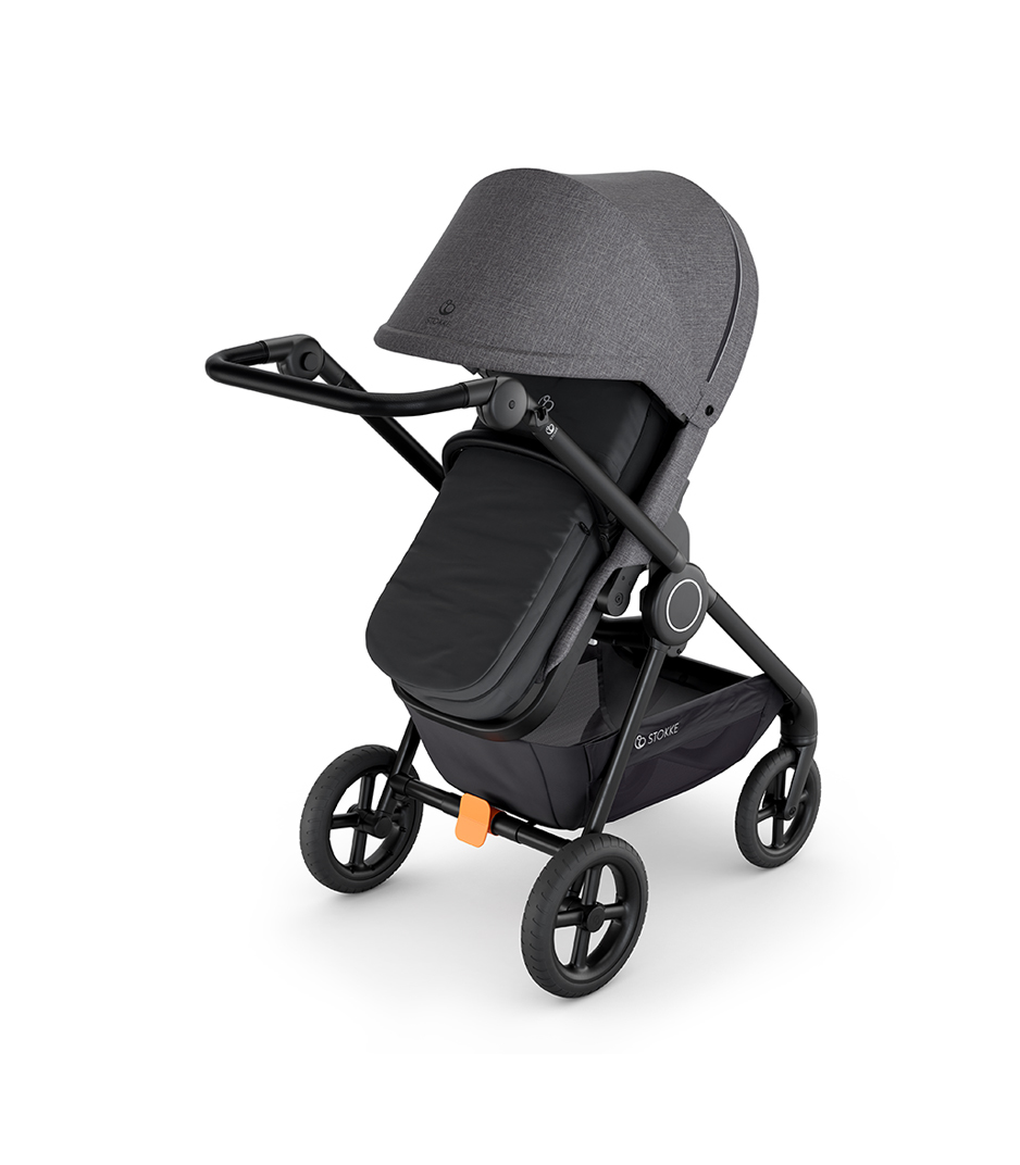 Stokke® Beat™ Black Melange with Stokke® Beat™ Soft Bag, Black.