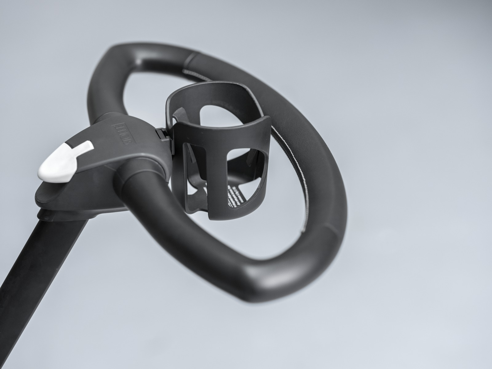 Stokke® Xplory® with Black Chassis. Cup holder. Detail.