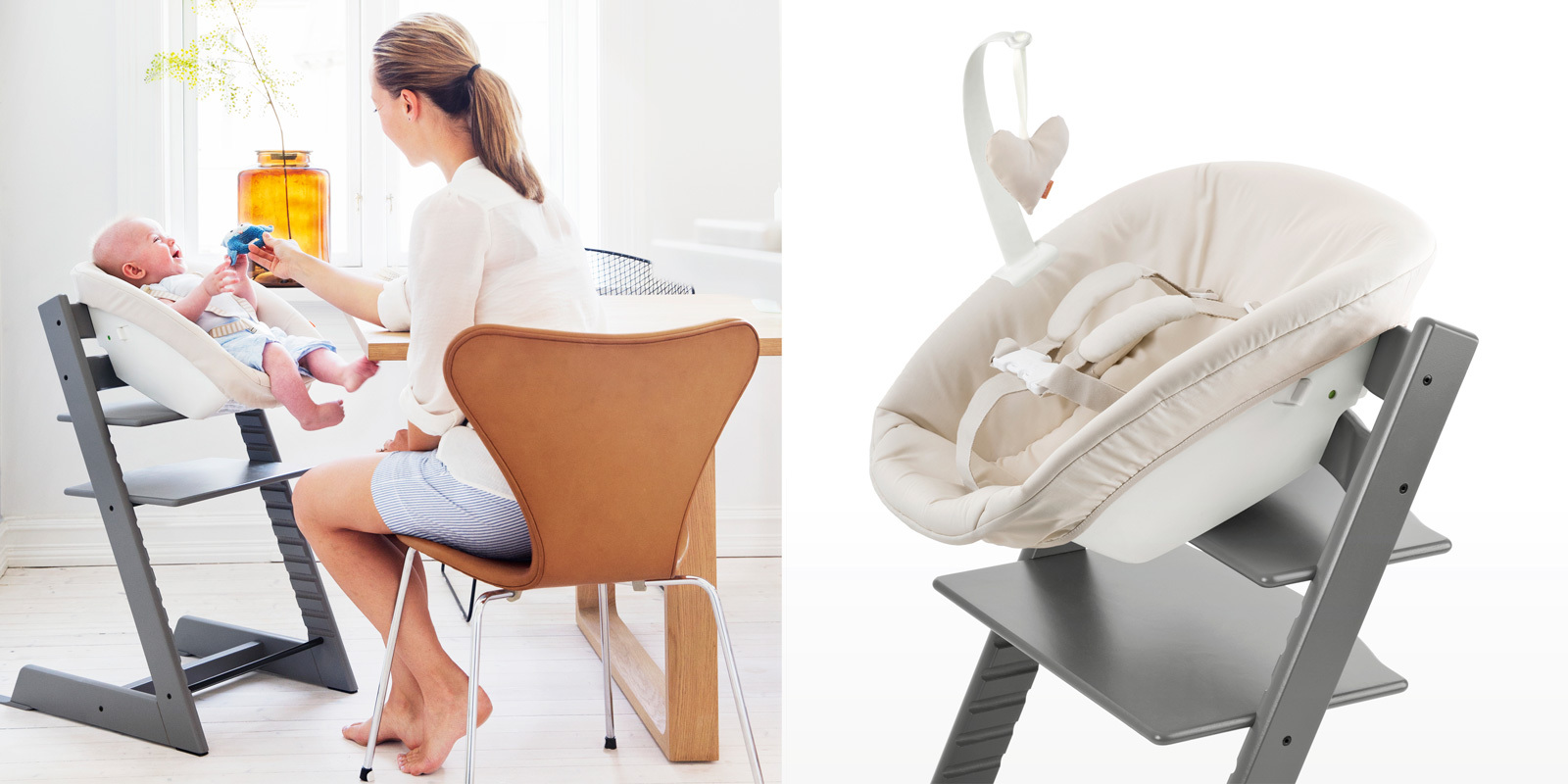 The original tripp trapp high chair for babies from stokke for Chaise tripp trapp