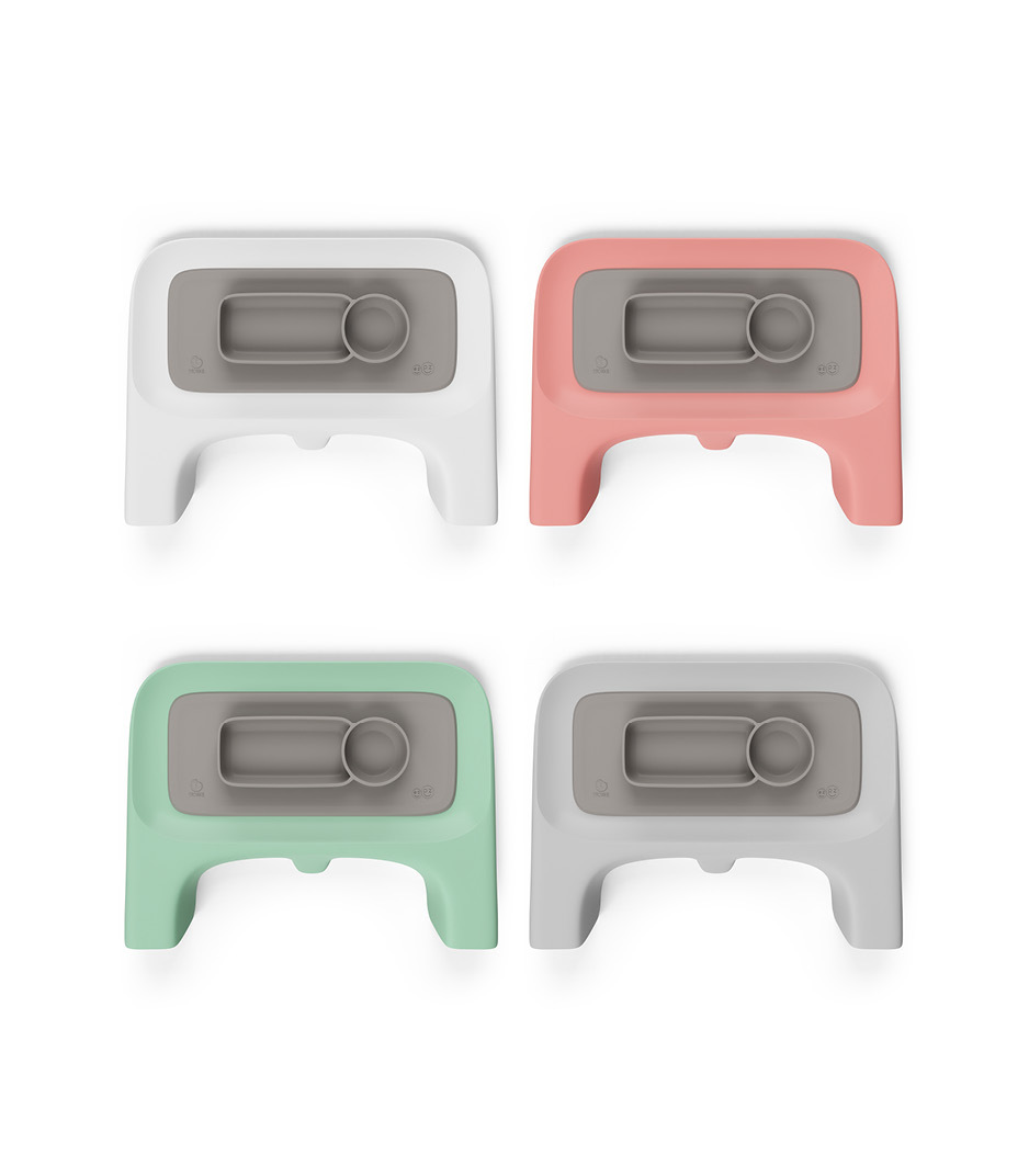 ezpz™ by Stokke®, Soft Grey. Used with Stokke® Clikk™ Tray.