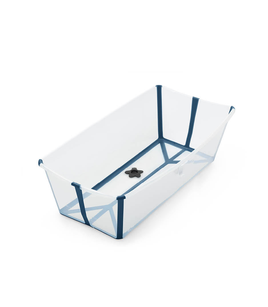 Stokke® Flexi Bath® XL bath tub, Transparent Blue.