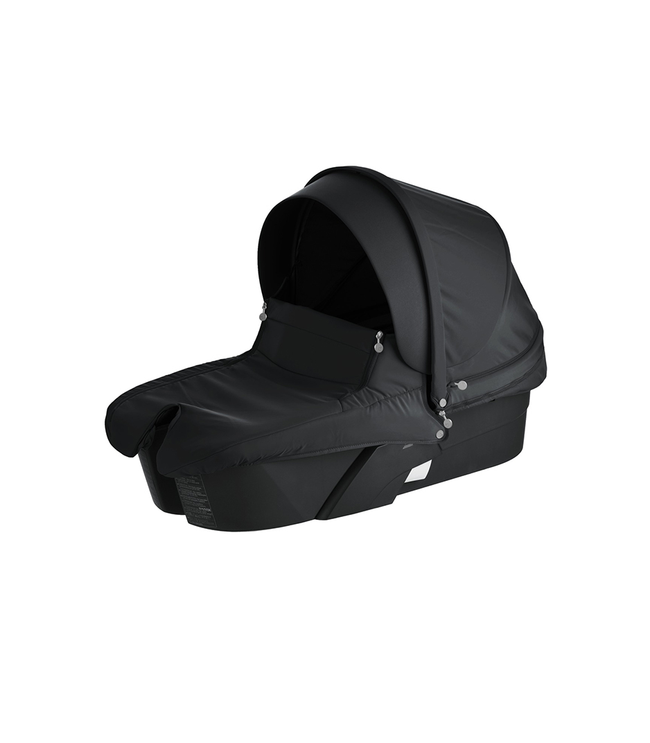 Stokke® Xplory® Carry Cot Black with Black Textile Set.