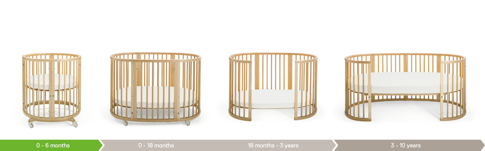 stokke sleepi bed the baby cot that grows with your child. Black Bedroom Furniture Sets. Home Design Ideas