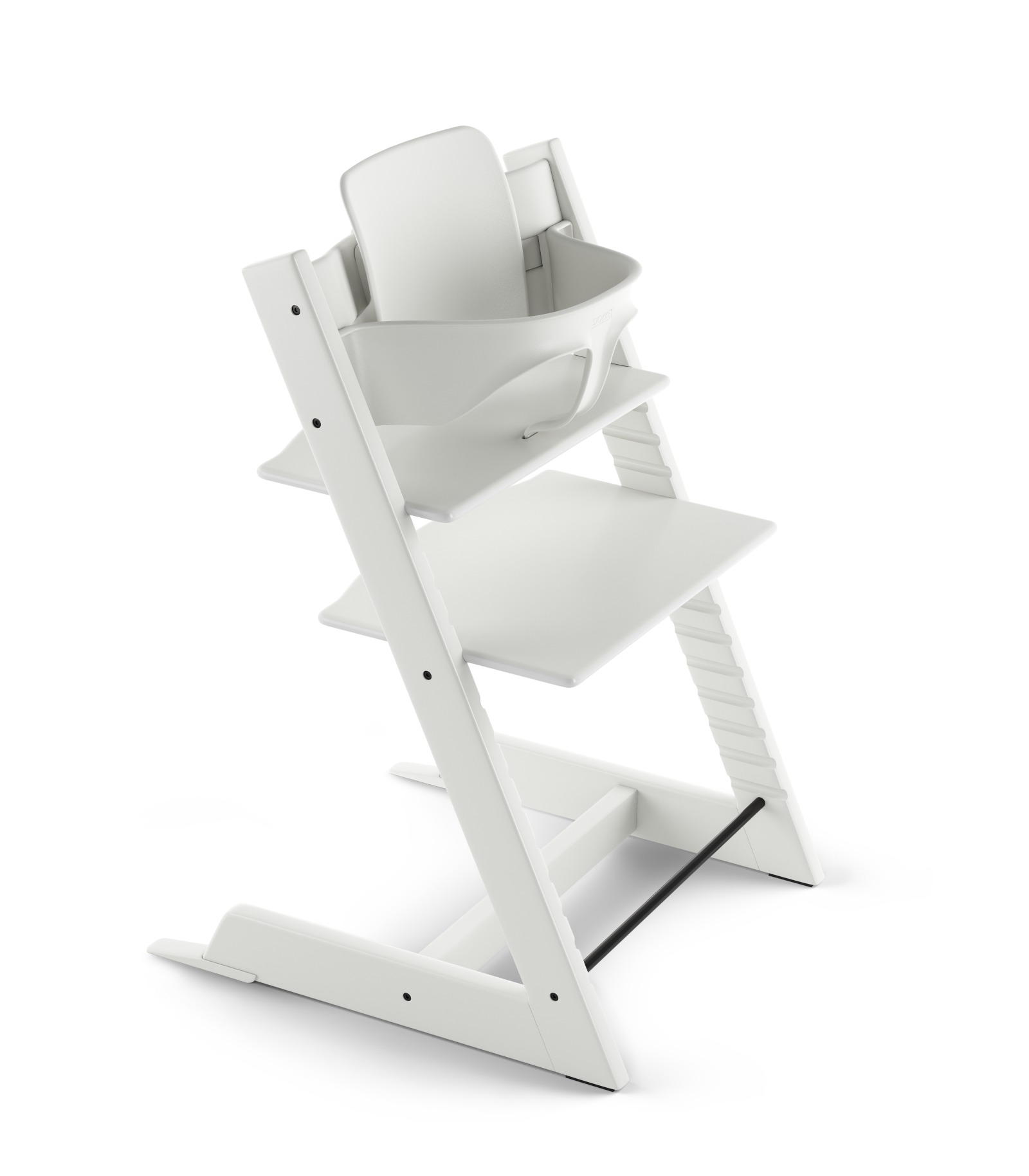 Tripp Trapp® White with Baby Set.