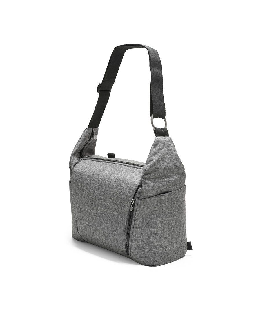 Stokke® Stroller Changing Bag, Black Melange.
