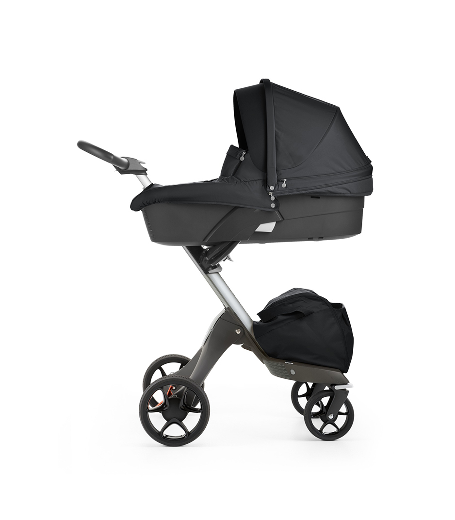 Stokke® Xplory® with Carry Cot, Black. New wheels 2016.