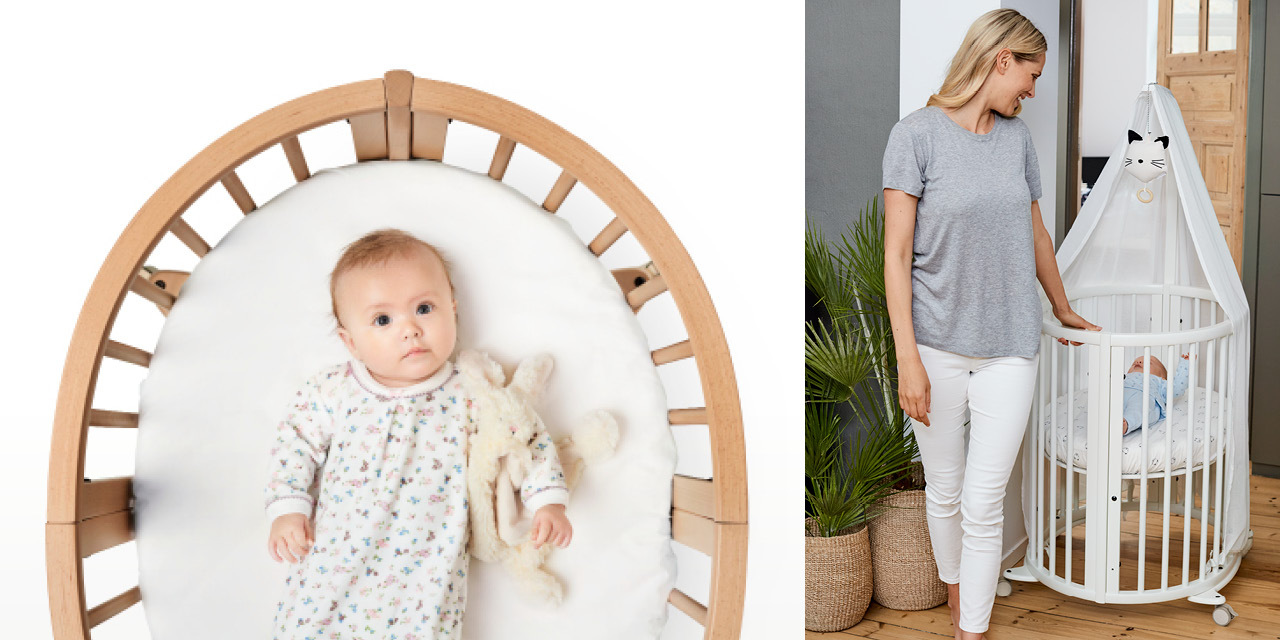Stokke® Sleepi™ Mini in setting. Mobile crib.